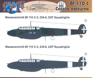 Owl Decals 1/32 CACCIA NOTURNO Italian Bf 110 Night Fighters