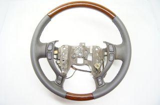 Cadillac DeVille 2000 2005 Steering Wheel Leather Dark Grey Wood Grain