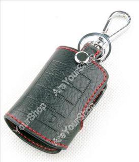 Genuine Leather Key Cover Case Holder Cadillac BLS CTS SRX XLR Black