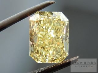 14ct Fancy Yellow VS2 Radiant GIA Diamond Halo Ring R4681 Diamonds