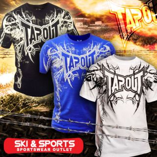Tapout Darkside Tshirt UFC MMA Cage Fight New Mens White Blue Black s