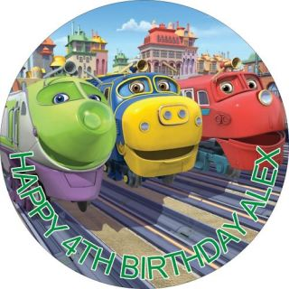 Chuggington Rice Paper Birthday Cake Toppers