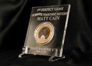 Matt Cain Perfect Game Pitching Mound Dirt San Francisco World Series