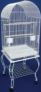 Parrot Bird Cage Cages Dome w Stand 20x20x58 0104