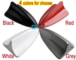 Car Shark Fin Roof BMW Dummy Antenna with Decoration LED Light Black