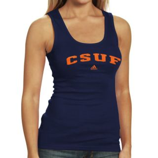 Adidas Cal State Fullerton Titans Ladies Navy Blue Sideline Arch Tank