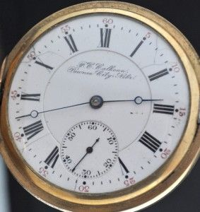 1904 Hamilton Private Label Pawnee City Pocket Watch Gold Filled