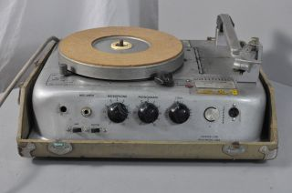 Califone Commentator 12GW Portable Record Player Parts Repair