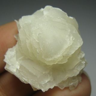 White Curved Lamellate Calcite Crystal Specimen CAH99IF0539