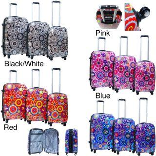 CalPak Carnival 3 Piece Expandable Hardside Spinner Luggage Set Red