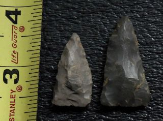 NC SC INDIAN ARTIFACT ARROWHEADS CAMP CREEK FIELD FOUND AUTHENTIC