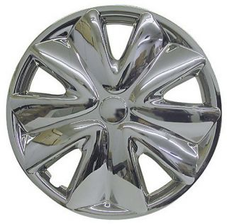 Piece Set Chrome 14 inch Hub Caps Rim Wheel Covers