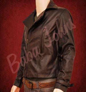 Captain Americas Cris Evans First Avenger Brown Genuine Mens Leather