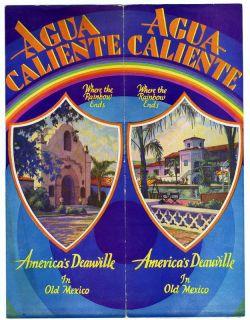 1932 AGUA CALIENTE Jockey Club Brochure Phar Lap Tijuana Mexico