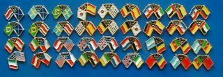 1990 Italy soccer football worldcup complete set 36 Team matches PINS