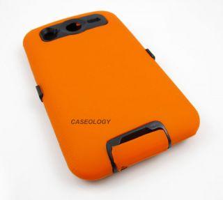 ORANGE IMPACT SOFT HARD CASE COVER AT T HTC INSPIRE DESIRE HD 4G PHONE