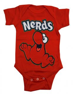 Red Nerd Logo Candy Vintage Style Life Clothing Baby Snapsuit