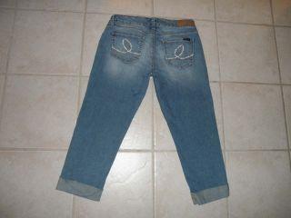 Seven 7 Womens Capri Jeans Size 8 31 x 23 Low Rise Stretch Blue