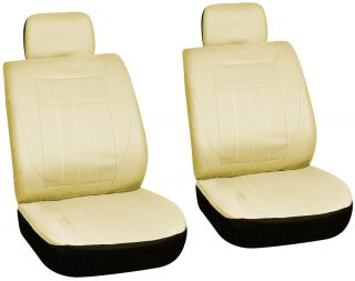 Piece Solid Tan Front Car Seat Cover Set Bucket Chairs