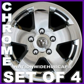 17 Ram 1500 CHROME Wheel Covers Skins Simulators Hub Caps Alloy Wheels