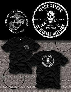 Corps Scout Sniper School Camp Lejeune Kopfjager USMC Shirt