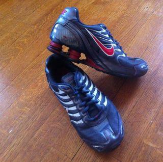 Nike Shox Turbo VI Running Shoes Dark Gray Red White Sz 7 Y