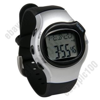 Exercise Fitness Calorie Counter Heart Rate Pulse Monitor Watch