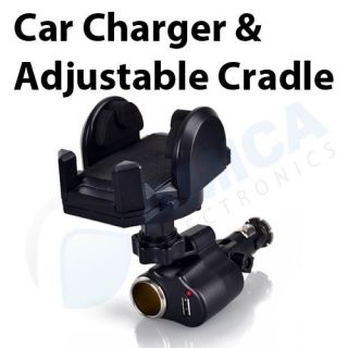 in 1 Universal Car Charger Holder for iPhone and iPod with Cabels