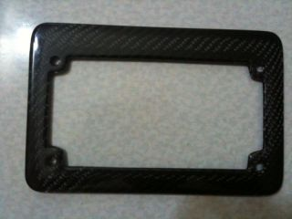 Ducati Motorcycle Carbon Fiber License Plate Frame