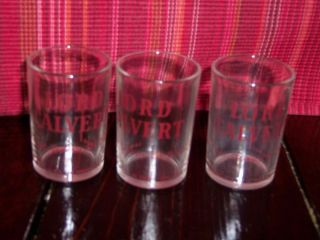 3 LORD CALVERT SHOT GLASSES