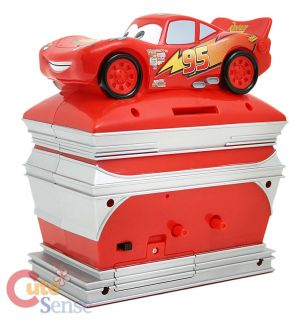 Disney Cars McQueen Coin Bank and Alarm Clock in One