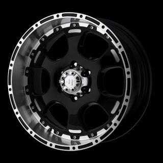 Black Helo Rims HE842 8 Lug Wheels 8x6 5 Lifted RAM Chevy Truck