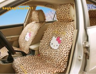 Hello Kitty Car Leopard Headrest Back Front Seat Covers 8 Pcs Free