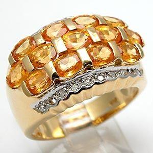 Estate 2 5 Carat Yellow Sapphire Diamond Cocktail Ring Solid 14k Gold
