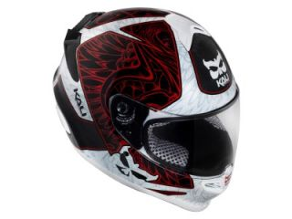 Kali Naza Carbon Monuments Red Motorcycle Helmet Large
