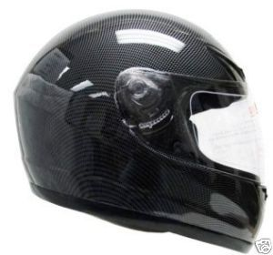 Black Carbon Fiber Full Face Motorcycle Helmet Street M