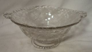 Cambridge Crystal Rose Point Round Bowl 3 T x 7 7 8 W