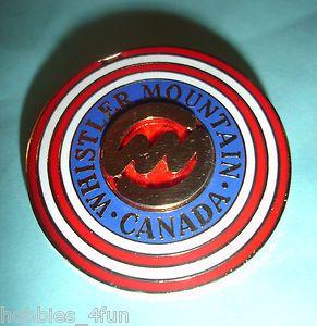 Ski Skiing Whistler Mountain Canada Lapel Pin Badge
