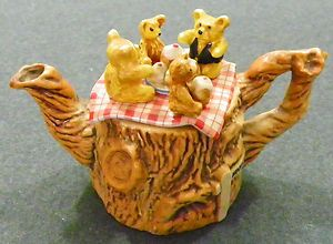 Cardew Designs Teapot Tea Pot Teddy Bears Picnic One Cup Made in