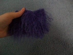 Caressa OOAK Fairy or Baby Doll Tibetan Lamb Wool Hair Purple Half