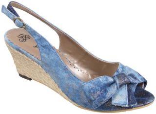 Renee Candida Espadrille Slingback Womens Sandal Mid High Heel Shoes
