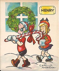 Henry Christmas Card by Carl Anderson King Features Syndicate
