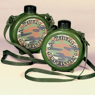 Camouflage Canteens Military Army Camping Boys Birthday Party