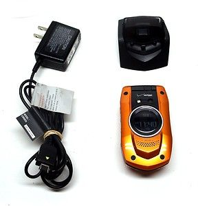 GzOne Boulder Orange Verizon Cellular Phone Camera Music Player Ru