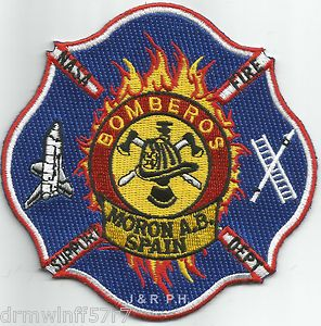 New N A s A Moron Air Base Spain Bomberos Fire Patch