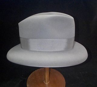 the personal gray fedora Stetson hat owned and worn by Truman Capote