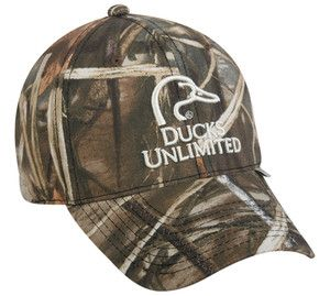 Outdoor Cap Ducks Unlimited Signature Realtree Max 4 Camo Cap Hat