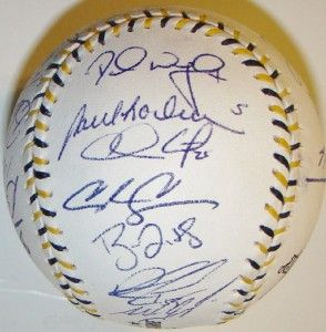 2006 NL All Star Team 27 Signed MLB Baseball Major League Baseball