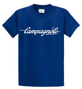 New Campagnolo Script Logo T Shirt Cycling Bicycling Vintage Bike Tee