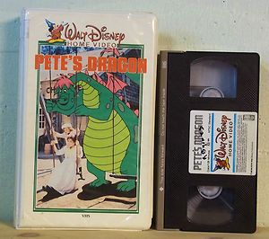 1980s Walt Disney Home Video PETES DRAGON VHS 10V White Clamshell Case